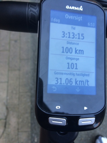 Workout Summary Garmin Edge 1000