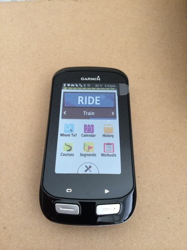 Garmin Edge 1000 display