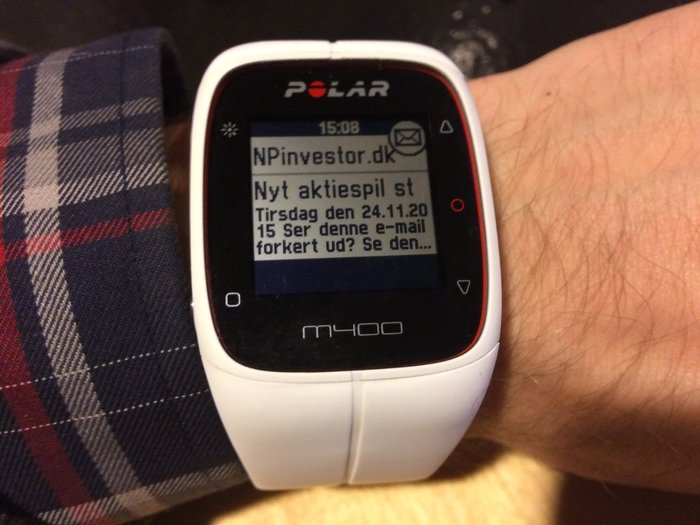 Smartnotifications på Polar M400